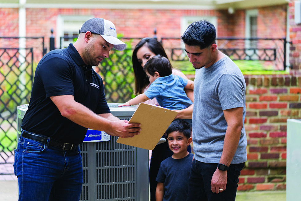 heating and ac dealer with family